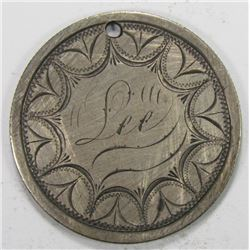"1876 SEATED HALF ""LOVE TOKEN"""