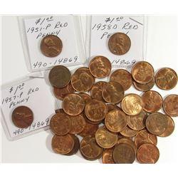 43- BU/UNC Lincoln Wheat Cent Lot; (16)1944,