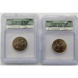 2001 P & D STATE QTR NY SIGNATURE