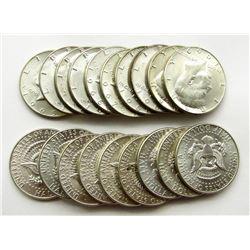 20 - BU KENNEDY HALF DOLLARS 40% SILVER
