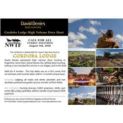 Cordoba Lodge High Volume Dove Hunt for 4