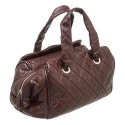 Chanel Brown Soft Caviar Leather Shoulder Bag
