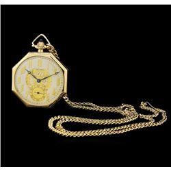 Waltham 14KT Yellow Gold Open Face Pocket Watch