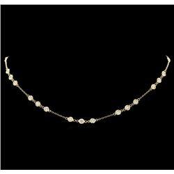 14KT Yellow Gold 2.96 ctw Diamond Necklace