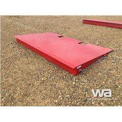 (UNUSED) RED STEEL CONTAINER RAMP