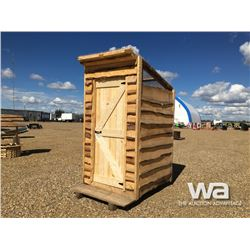 RUSTIC WOOD OUTHOUSE WITH SKY LIGHT