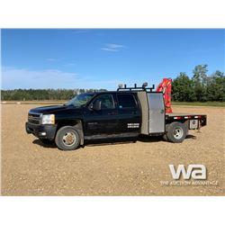2013 CHEVROLET 3500HD CREW CAB BOOM TRUCK