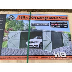 (UNUSED) 13 X 20 FT. METAL GARAGE SHED