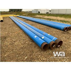 "(3) 12"" X 61' BLUE PIPE"