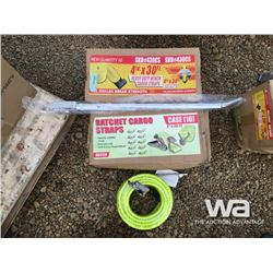 """4"""" X 30 FT. WINCH STRAPS, AIR HOSE, SNIPE"""