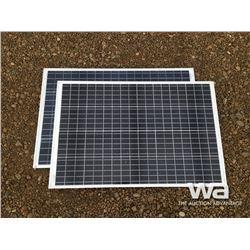 "(UNUSED) (2) 40"" X 26"" 100W SOLAR PANELS"