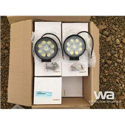 (24) ROUND LED LIGHTS