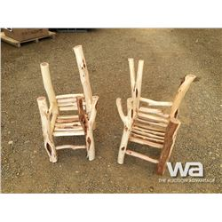 (2) WILLOW CHAIRS FOR CHILDREN