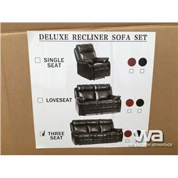 DELUXE 1+2+3 RECLINING SOFA, LOVE SEAT, CHAIR
