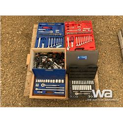 (4) SOCKET SETS, COMBO WRENCHES & CLAMPS