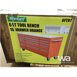 "(UNUSED) 72"" 15 DRAWER TOOL BENCH"