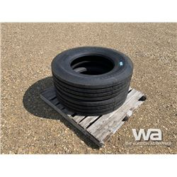 (2) GRIZZLY 11R24.5 TRUCK STEERING TIRES