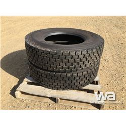 (UNUSED) (2) GRIZZLY 11R22.5 TRUCK DRIVE TIRES