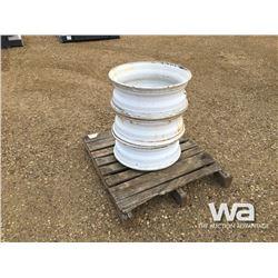 (3) 24.5 WHITE STEEL TRUCK RIMS