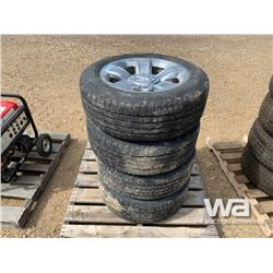 (4) WRANGLER P275/55R20 TIRES & RIMS