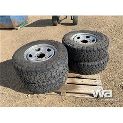 (4) TOYO OPEN COUNTRY 275/70R18 TIRES & RIMS