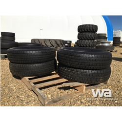 (UNUSED) (4) GRIZZLY ST235/80R16 TRAILER TIRES