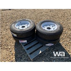(UNUSED) (4) GRIZZLY ST225/75R15 TIRES & RIMS