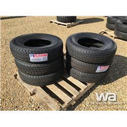(UNUSED) (6) GRIZZLY 225/75R15 TRAILER TIRES