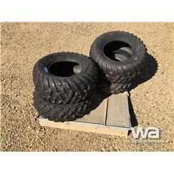 (2) 25X10-12 (2) 25X8-12 ATV TIRES