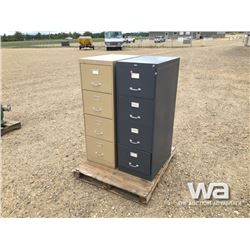 BROWN & GREY 4 DRAWER FILE CABINETS
