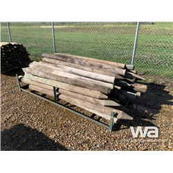 (50) TREATED FENCE POSTS