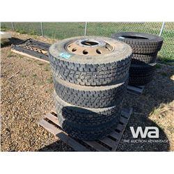 (4) BRIDGESTONE 295/11R22.5 TIRES & RIMS