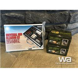 GUN CLEANING KIT & (2) 1080P TRAIL CAMERAS