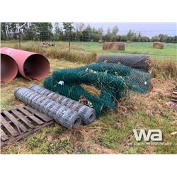 QUANTITY OF CHAIN LINK & PAGE WIRE FENCING