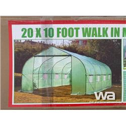 20 FT. X 10 FT. METAL FRAME GREENHOUSE