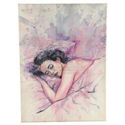 Marvel's Jessica Jones (TV Series) - Oscar Arocho's Color Painting of Jessica Jones Sleeping