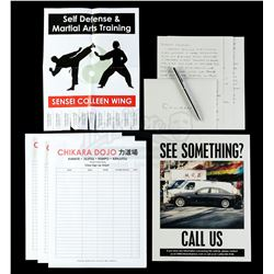 Marvel's Iron Fist (TV Series) - Colleen Wing's Letter and Flyers Set