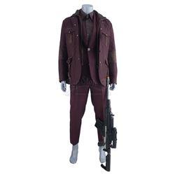 Marvel's Luke Cage (TV Series) - Willis 'Diamondback' Stryker's Burgundy Combat Costume and Stunt Ma