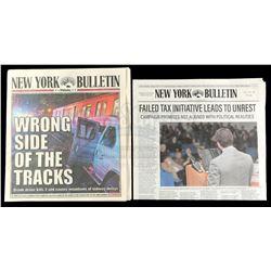 Marvel's Iron Fist (TV Series) - Pair of New York Bulletin Newspapers