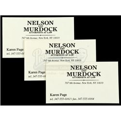 Marvel's Daredevil (TV Series) - Set of Three of Karen Page's Business Cards