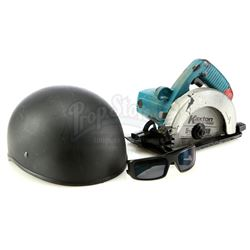 Marvel's Jessica Jones (TV Series) - Luke Cage's Motorcycle Helmet, Sunglasses, and Stunt Power Saw