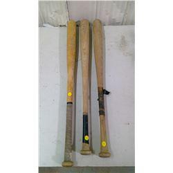 3 OLD BASEBALL BATS