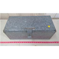 HOMEMADE GALVANIZED TOOLBOX
