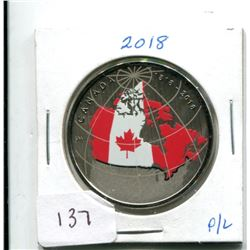 2018 FIFTY CENTS FAR AND WIDE COIN FROM P/L SET