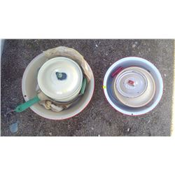 LOT OF ENAMELWARE (GSW ENGLAND, OTHERS)