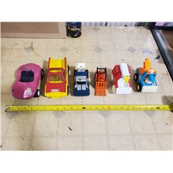 VINTAGE MIX TONKA'S. TIN BUGGY, FORKLIFT, RACING SEMI, & MORE