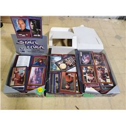 3 BOXES OF 1991 STAR TREK TRADING CARDS. MANY