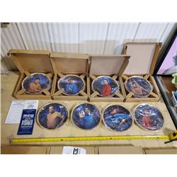 HAMILTON STAR TREK ORIGINAL SERIES COLLECTOR PLATES COMPLETE SET OF 8 WITH CERTIFICATES