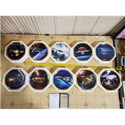 HAMILTON STAR TREK VOYAGES COLLECTOR PLATES COMPLETE SET OF 10