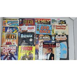 15 ASSORTED COMICS. HOWARD THE DUCK 1,  JAMES BOND, X-MEN & OTHERS